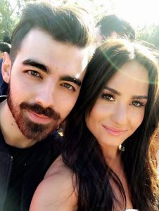 Demi Lovato with Joe Jonas