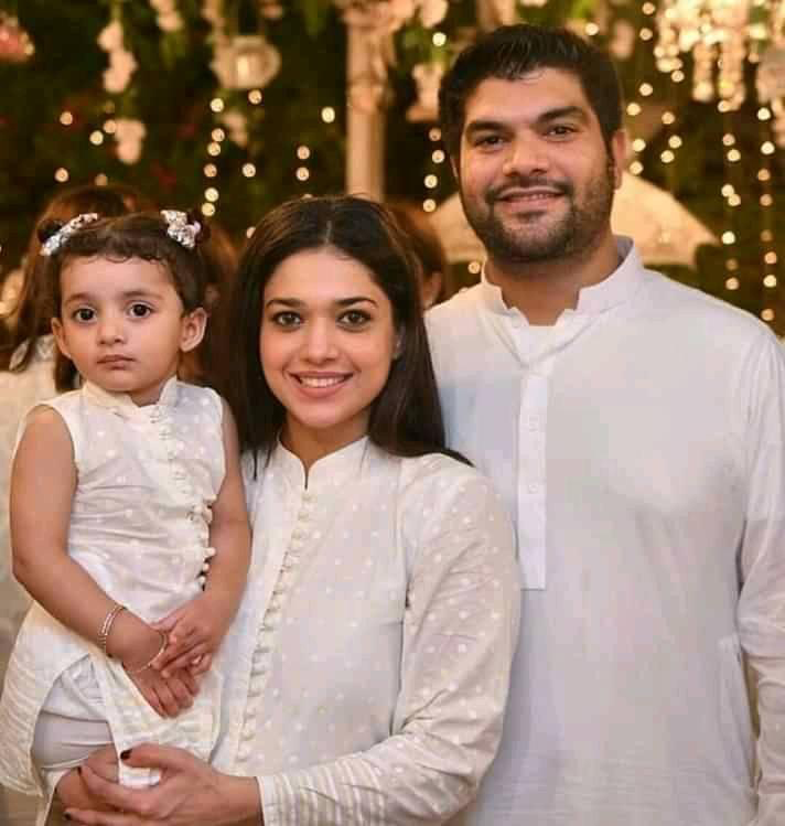 Sanam Jung With her Husband & Daughter