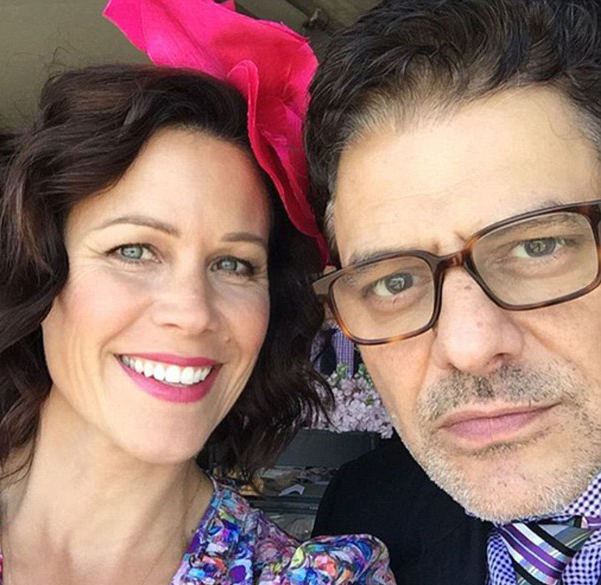Jane Hall with Partner Vince Colosimo in Instagram Selfie