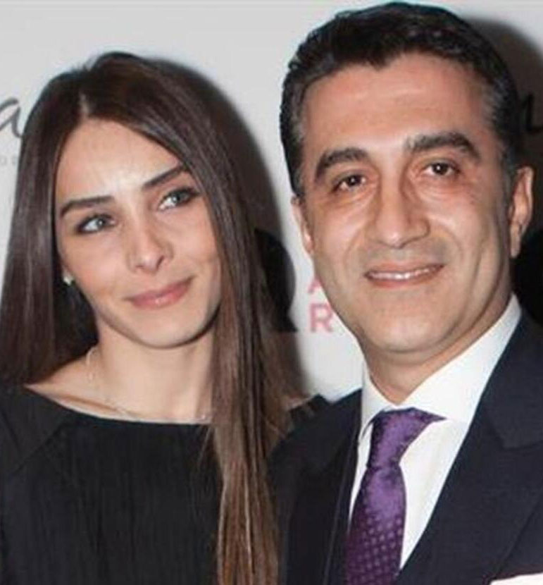 Nur Fettahoglu with her husband Levent Veziroğlu