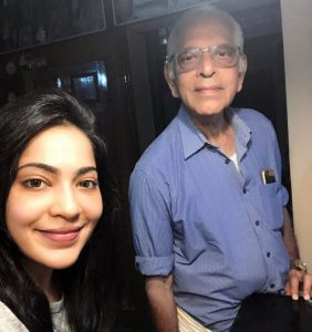 Ramya Subramanian with Her Father