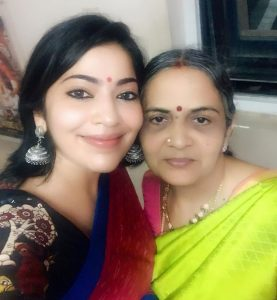 Ramya Subramanian with Her Mother