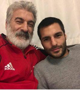 Serkan Çayoğlu With his Father