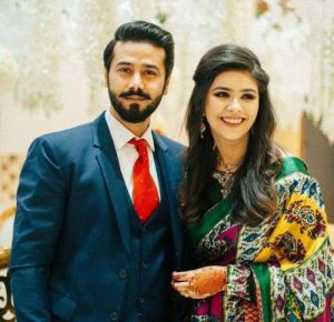 Ali Abbas with his Wife Hamna Ali