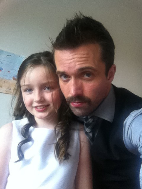 Emmett J. Scanlan  with his daughter